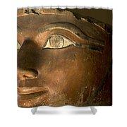 Osiris Statue Face Of Hatshepsut Shower Curtain