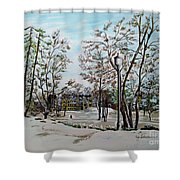 Oslo In Winter Shower Curtain