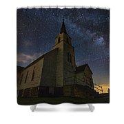 Oslo Milky Way  Shower Curtain