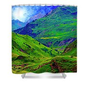 Ossue Mountains Shower Curtain