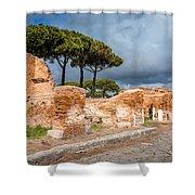 Ostia Antica - Strolling The Decuman Shower Curtain