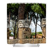 Ostia Antica - Theatre Marble Masks Shower Curtain