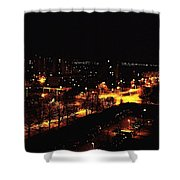 Ostrava At Night Shower Curtain