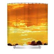 Oswego Sunset 5 Shower Curtain