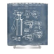 Otoscope Patent 1927 Blue Grunge Shower Curtain