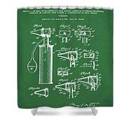 Otoscope Patent 1927 Green Shower Curtain