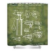 Otoscope Patent 1927 Grunge Shower Curtain