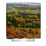 Ottawa River Valley In Fall At Tawadina Lookout At End Of Blanch Shower Curtain