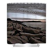 Otter Cliffs Dawn #5 Shower Curtain