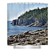 Otter Cliffs In Acadia National Park - Maine Shower Curtain