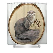 Otter - Growing Curiosity Shower Curtain