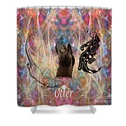 Otter Moon Shower Curtain