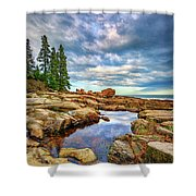 Otter Point Reflections Shower Curtain