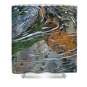 Otter Swirl Shower Curtain