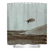 Otto Lilienthal Gliding Experiment Shower Curtain