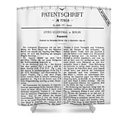 Otto Lilienthal: Patent Shower Curtain