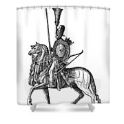 Ottoman Cavalryman, 1576 Shower Curtain