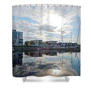 Oulu From The Sea 2 Shower Curtain