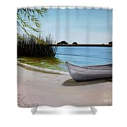 Our Beach Shower Curtain