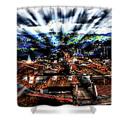 Our City In The Andes Shower Curtain