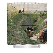 Our Daily Bread Anders Zorn Shower Curtain