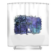 Our Father Berry Blues 3 Dimensional Shower Curtain