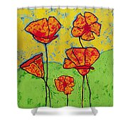Our Golden Poppies Shower Curtain