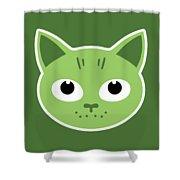 Our Green Cat Birka Shower Curtain