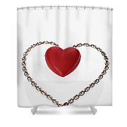 Our Hearts Forever Together Shower Curtain