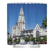 Our Lady Cathedral Antwerp Shower Curtain