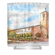 Our Lady Of Assumption Catholic Church, Claremont, California Shower Curtain