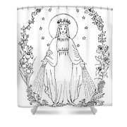 Our Lady Of Grace Shower Curtain