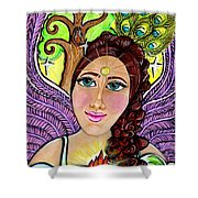 Our Lady Of Self-actualization Shower Curtain