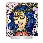 Our Lady Of Self Blessing Shower Curtain