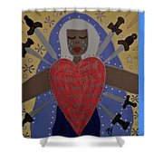 Our Lady Of Sorrows Shower Curtain by Angela Yarber