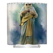 Our Lady Of The Immaculate Heart Shower Curtain