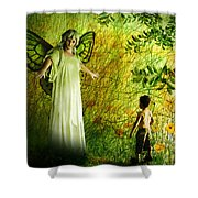 Our Lady Of The Meadow Shower Curtain