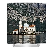 Our Lady Of The Rocks Church Shower Curtain