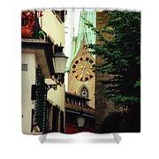 Our Ladys Minster Church In Zurich Switzerland Shower Curtain