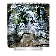 Our Little Angel Stone Carving Horizontal Shower Curtain