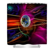 Our World Of Mystery - Airmail Shower Curtain