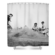 Out Shower Curtain by American School