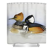 Out For A Swim Shower Curtain