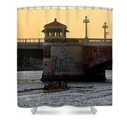 Out For An Evening Scull Shower Curtain