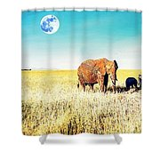 Out In The Serengeti Shower Curtain