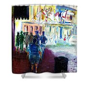 Out Of Darkness Into The Light Shower Curtain