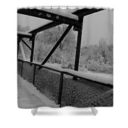 Out Of Kilter Walkway Shower Curtain