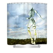 Out Of My Mind... Shower Curtain