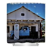 Out Of Service New Mexico Gas Station Shower Curtain