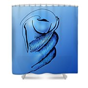 Out Of The Blue Aventurine Shower Curtain